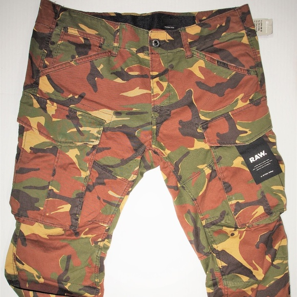 latest discount new high quality cheap prices G-Star Pants | G Star Raw Mens Tapered Fit Camouflage Cargo | Poshmark